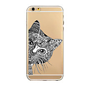 Funda Para Apple iPhone 6 iPhone 6 Plus Ultrafina Transparente Diseños Funda Trasera Caricatura Suave TPU para iPhone 6s Plus iPhone 6s