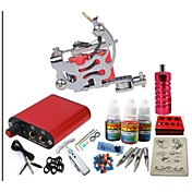 jh550 máquina kit de tatuaje con tinta basekey apretones de alimentación 10ml