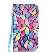 Funda Para Samsung Galaxy A5(2017) A3(2017) Soporte de Coche Cartera con Soporte Flip Diseños Funda de Cuerpo Entero Flor Dura Cuero de PU