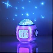 음악 별이 빛나는 별 하늘의 디지털지도 투사 프로젝터 알람 시계 달력