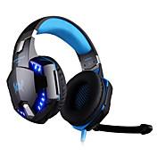 KOTION EACH Over øre Pannebånd Med ledning Hodetelefoner Plast Gaming øretelefon Med volumkontroll Med mikrofon Støyisolerende Selvlysende