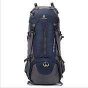 60L L 배낭 캠핑 & 하이킹 여행 방수 방수 지퍼 착용 가능한 통기성 나일론 옥스퍼드