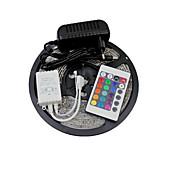 5 m Tiras de Luces RGB 300 LED SMD 2835 1 Controlador remoto de 24 teclas / Adaptador de corriente 1 x 2A RGB / Amarillo 12 V 1 juego / IP65