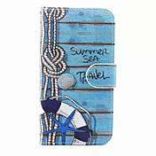 Etui Til Samsung Galaxy Samsung Galaxy S7 Edge Kortholder Lommebok med stativ Flipp Mønster Heldekkende etui Ord / setning PU Leather til