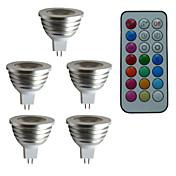 3W 300 lm GU5.3(MR16) Focos LED MR16 1 leds LED de Alta Potencia Regulable Decorativa Control Remoto RGB AC 12V DC 12V