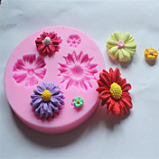 Molde para hornear Flor Chocolate Galleta Pastel Silicona Ecológica 3D Vacaciones