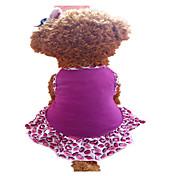 Perro Vestidos Ropa para Perro Labios Morado Algodón Disfraz Para mascotas Mujer Moda