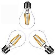 KWB 3pcs 4W 400 lm E26/E27 LED-glødepærer A60(A19) 4 leds COB Varm hvit AC 110-130V AC 220-240V