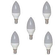 2w e14 led stearinlys c35 15 smd 2835 200-250 lm varm hvit AC 220-240 v