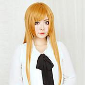 Pelucas de Cosplay Sword Art Online Asuna Yuuki Naranja Largo Corte Recto Animé Pelucas de Cosplay 80 CM Fibra resistente al calor Mujer