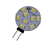 SENCART 360-380lm G4 LED-spotpærer MR11 9 LED perler SMD 5730 Dekorativ Varm hvit / Kjølig hvit 12V / 24V / 1 stk. / RoHs / CE