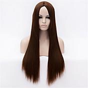 Syntetiske parykker Rett / Yaki Syntetisk hår Parykk Lokkløs