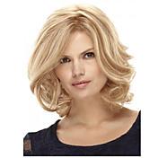 Syntetiske parykker Rett / Kinky Glatt Blond Syntetisk hår Blond Parykk Dame Lokkløs