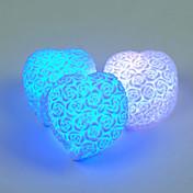 la forma del corazón del LED Rose flor de la noche luz del arco iris de 7 colores color al azar amante del estado de ánimo de cambio de