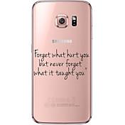 Etui Til Samsung Galaxy Samsung Galaxy S7 Edge Gjennomsiktig Mønster Bakdeksel Ord / setning Myk TPU til S7 edge S7 S6 edge plus S6 edge