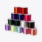beadia 60mts 0.7mm cable de estiramiento elástico que rebordea& cable& string (14 colores)