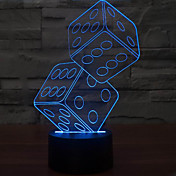 anteresting lámpara de mesa de luz tamiz noche LED 3D ilusión tridimensional