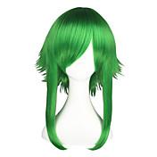 Pelucas de Cosplay Vocaloid Gumi Verde Mediano Animé Pelucas de Cosplay 55 CM Fibra resistente al calor Hombre / Mujer