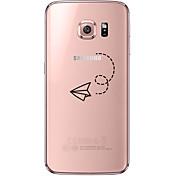 Para Samsung Galaxy S7 Edge Transparente / Diseños Funda Cubierta Trasera Funda Dibujos Suave TPU SamsungS7 edge / S7 / S6 edge plus / S6