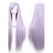 Pelo sintético pelucas Corte Recto Parte lateral Con flequillo Sin Tapa Peluca de carnaval Peluca de Halloween Larga