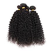 Indisk hår Krøllete Weave Kinky Krøllet Hårvever med menneskehår 4 deler Hot Salg 0.4