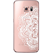 Funda Para Samsung Galaxy Samsung Galaxy S7 Edge Transparente Diseños Funda Trasera Mandala Suave TPU para S7 edge S7 S6 edge plus S6