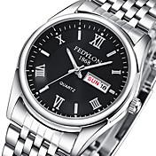 Pareja Reloj de Pulsera Reloj Casual Acero Inoxidable Banda Casual / Moda Plata