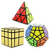 Cubo de rubik 3 piezas Shengshou Pyramid Alienígena Dodecaedreo Cubo de espejo Cubo velocidad suave Cubos mágicos rompecabezas del cubo