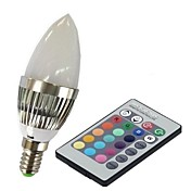 E14 Smart LED-lampe C35 1 leds Høyeffekts-LED Fjernstyrt RGB 100-230lm 2000-5000K AC 85-265V