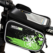 WOSAWE Bolso del teléfono celular Bolsa para Cuadro de Bici 6 pulgada Impermeable Reflexivo Resistente a la lluvia Cremallera impermeable