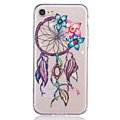 Funda Para Apple iPhone 6 iPhone 7 Plus iPhone 7 Transparente Diseños En Relieve Funda Trasera Impresión de encaje Suave TPU para iPhone