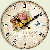 Moderno/Contemporáneo Otros Reloj de pared,Redondo Otros 34*34*3cm Interior Reloj