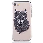 Funda Para Apple iPhone X iPhone 8 iPhone 6 iPhone 7 Plus iPhone 7 Transparente Diseños En Relieve Funda Trasera Animal Suave TPU para