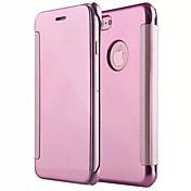 Funda Para Apple iPhone X iPhone 8 Espejo Flip Funda de Cuerpo Entero Color sólido Dura ordenador personal para iPhone X iPhone 8 Plus