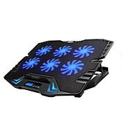 pantalla llevada de control inteligente de la almohadilla portátil de refrigeración regulable con 6 ventiladores