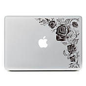 Black flower Decorative Skin Sticker Decal for MacBook Air/Pro/Pro with Retina