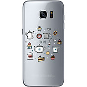 Etui Til Samsung Galaxy Samsung Galaxy S7 Edge Mønster Bakdeksel Ord / setning Myk TPU til S7 edge S7 S6 edge plus S6 edge S6