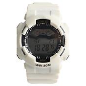 Hombre Reloj Deportivo Reloj digital Cuarzo Digital Resistente al Agua / Plastic Banda Casual Blanco