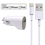 Bil Lader Telefon USB-lader Universal Lader Kitt 1 USB-port 2.4A DC 12V-24V Til iPad Til mobiltelefon Til iPhone
