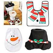 1 세트 크리스마스 장식 크리스마스 변기 커버와 양탄자 화장실 세트 눈사람 장식 뚜껑 프로모션