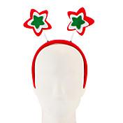 Decoraciones de Navidad 1pc no tejidas estrella de cinco puntas aro de pelo