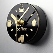 창조적 인 벽 시계 여가 시간 시계 냉장고 자석 메시지는 시계 냉장고 자석 음소거 알람 시계 인출 게시