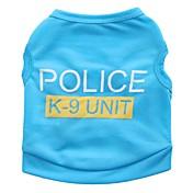Kat Hund Trøye/T-skjorte Hundeklær Søtt Fritid/hverdag Politi/Militær Svart Rose Blå Rosa Kostume For kjæledyr