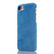 Para Funda iPhone 7 / Funda iPhone 7 Plus / Funda iPhone 6 Antigolpes Funda Cubierta Trasera Funda Un Color Dura Cuero Sintético Apple