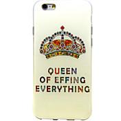 다이아몬드 왕관 패턴이 아이폰 기가 소프트 커버 TPU 플러스 / 6 플러스