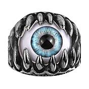 Herre Kubisk Zirkonium Ring - Hodeskalle Personalisert, Europeisk, Gotisk 8 / 9 / 10 Blå Til Bryllup / Fest / Daglig