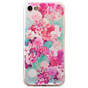 용 패턴 케이스 뒷면 커버 케이스 꽃장식 소프트 TPU 용 Apple 아이폰 7 플러스 / 아이폰 (7) / iPhone 6s Plus/6 Plus / iPhone 6s/6