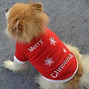 강아지 티셔츠 강아지 의류 귀여운 크리스마스 눈송이 레드 코스츔 애완 동물