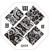 1 stempling Plate Nail Stamping Template Daglig Mote Høy kvalitet