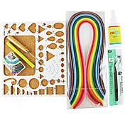 400pcs Quilling de papel kit de la decoración del arte del arte de DIY / set 7pcs